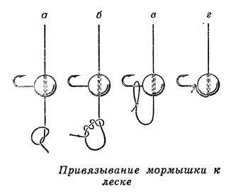 Как привязать крючок к леске на мормышку