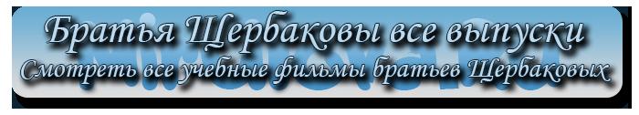 Братья Щербаковы все выпуски. Смотреть все учебные фильмы братьев Щербаковых